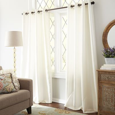 hamilton grommet top curtain ivory