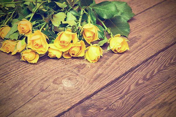 Yellow Roses Photograph by Nadezhda Tikhaia   #NadezhdaTikhaiaFineArtPhotography #ArtForHome #HomeDecor #Flowers #InteriorDesign #FineArtPrints