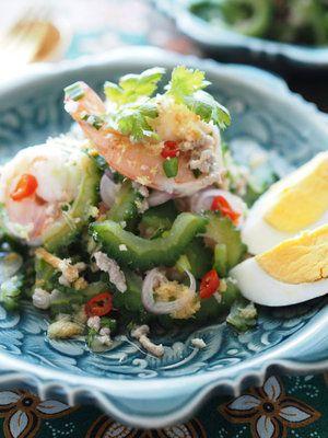本格的なエスニックサラダをゴーヤで再現|『ELLE a table』はおしゃれで簡単なレシピが満載!