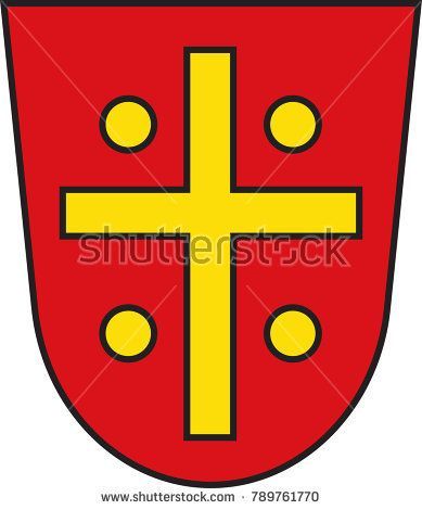 Coat of arms of Nieheim is a town in Hoexter district in North Rhine-Westphalia, Germany. Vector illustration