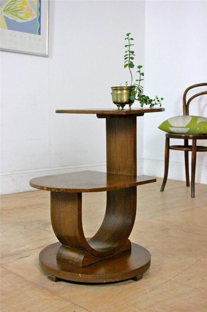 Pure Art Deco Asymmetrical Coffee Table / Sculptural Side Table 30's