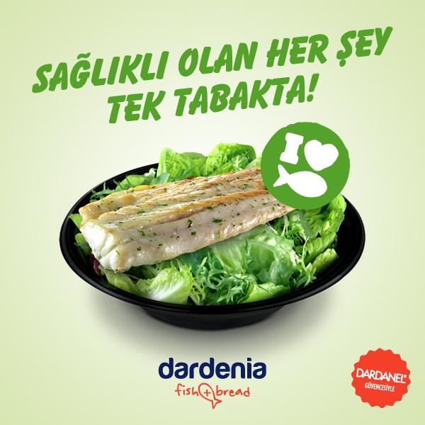 Dardenia mutfağından dört farklı balık seçeneğiyle Fish!    Dardanel Ton, Levrek Izgara, Somon Izgara ve Lagos Şiş Izgara!   http://www.dardenia.com/menu/salata