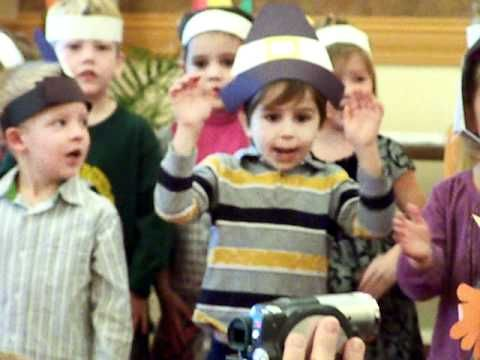 Lyrics to fun Thanksgiving Songs for Kids to popular tunes