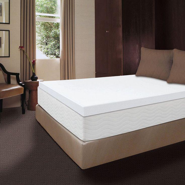 Dream Therapy 4-in. Memory Foam Mattress Topper, White