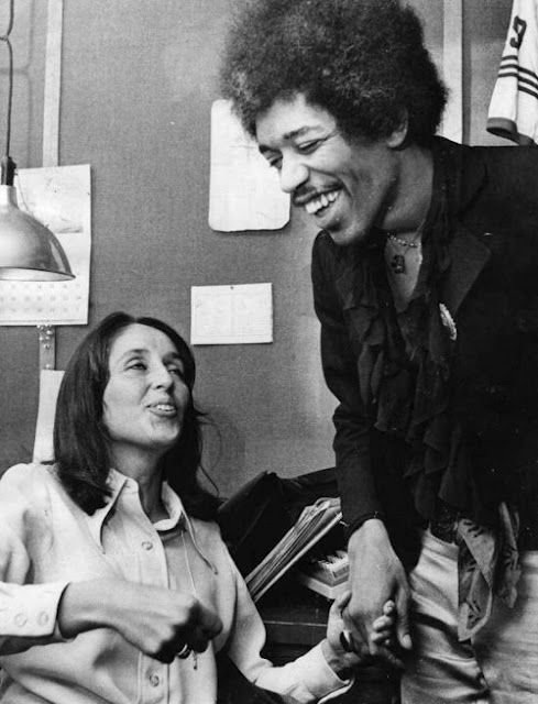 Jimi Hendrix and Joan Baez