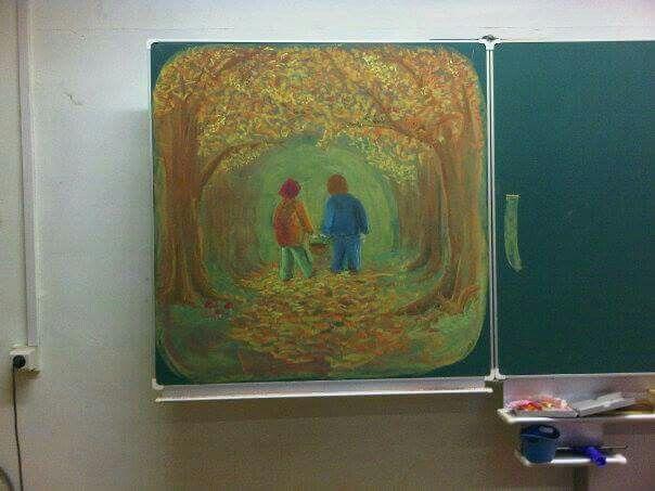 Bordtekening herfst klas 1 door Lieke Winterwerp