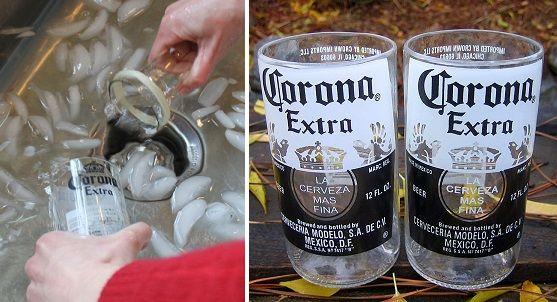 Cómo convertir las botellas de vidrio en perfectos vasos reciclados   Farandulaya