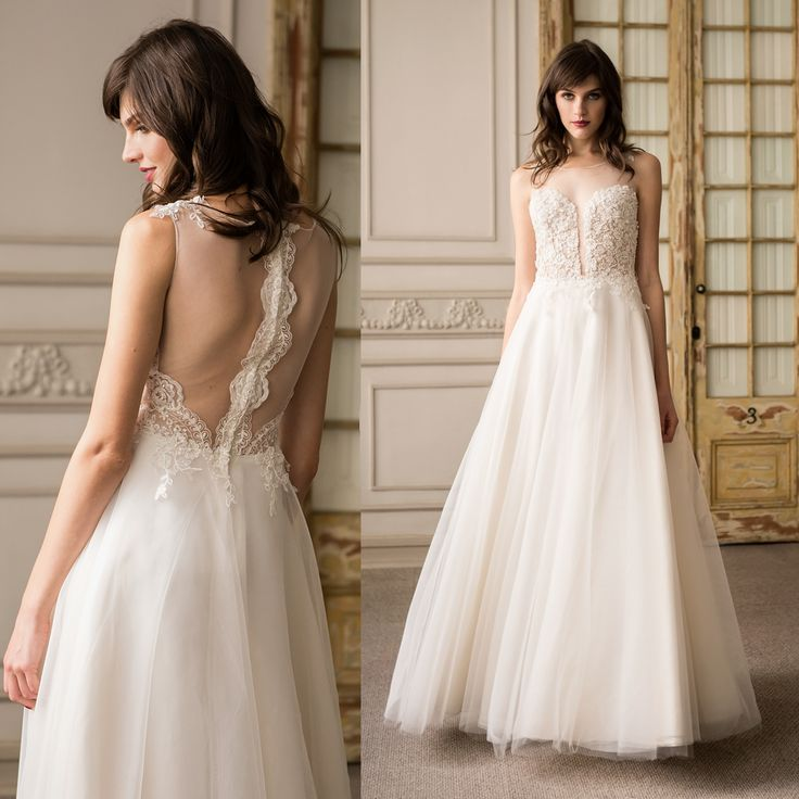 Vestido de Novia escote ilusión · Illusion Back Wedding Dress