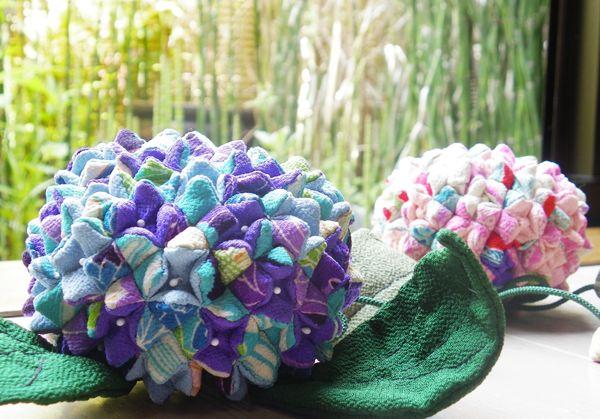 Hydrangea Chiriman fabric