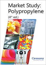 Polypropylene (PP) is the second most important standard plastic after polyethylene, compatible with many processing technologies, and used for the most diverse applications ranging from packaging to household appliances, clothes, and vehicles. Ceresana analyzed the global market for polypropylene already for the fourth time. Further information: www.ceresana.com/en/market-studies/plastics/polypropylene/
