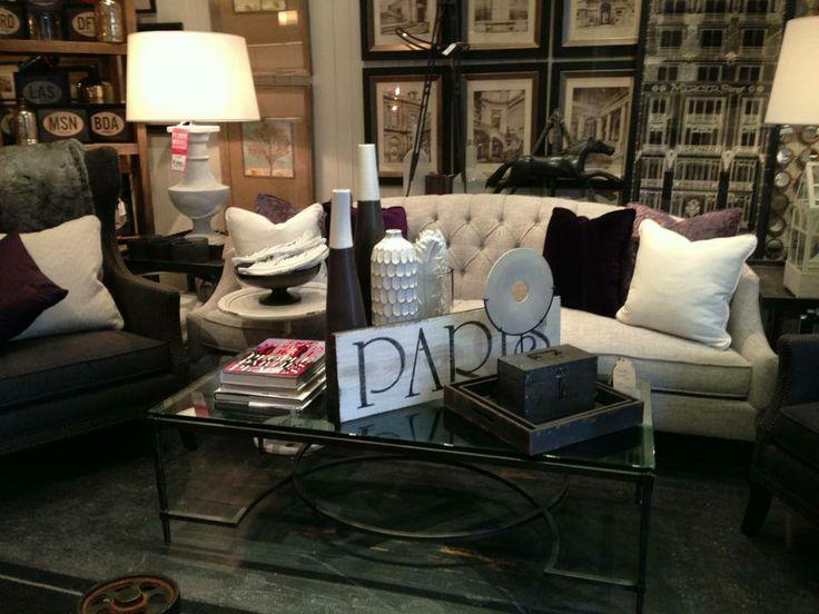 Diane Sofa. Beautifully tufted. #sofa #table #design #art