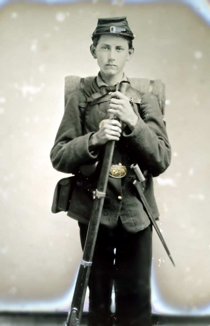 Unidentified young Civil War soldier.