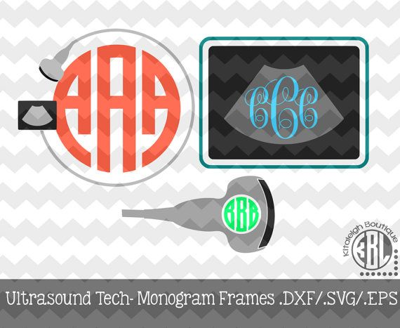 Ultrasound Tech Monogram Frames by KitaleighBoutique on Etsy