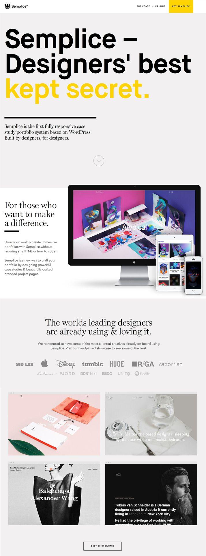 Semplice - Designers' best kept secret  http://www.semplicelabs.com/