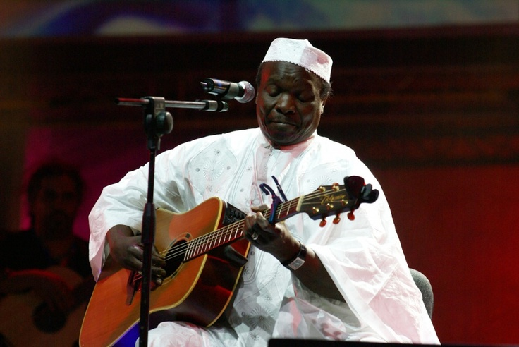 Mori Kante' the musician from Mali, performing at the music festival of Rabat