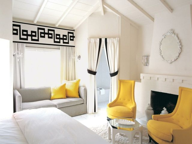 Si vous appréciez les couleurs joyeuses et en particulier le jaune, voici quelques exemples en photos sur comment on peut aménager un intérieur moderne grâce à cette teinte-là !