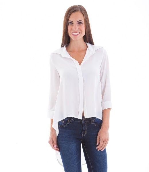 Stilig Hvit Skjorte