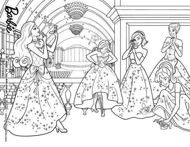 coloriage barbie coloriage des princesses et des fes