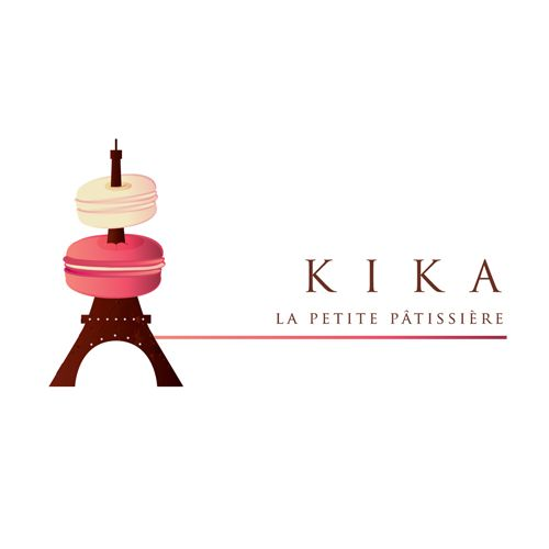 French Pastry logo design for KIKA Patissiere by thelogoboutique.com - I love macarons