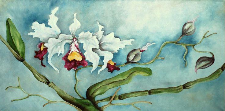 "Картина для интерьера ""Орхидеи"". в магазине «Try to sleep land» на Ламбада-маркете"