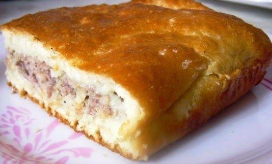 Пирог с  мясом (фаршем)