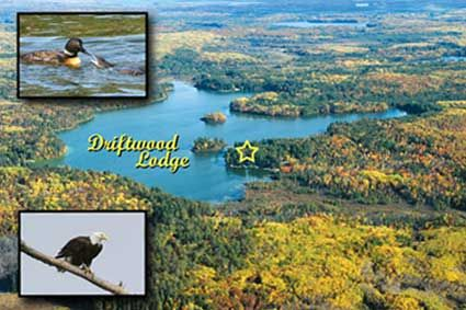 Driftwood Lodge is located on Mercer Lake!