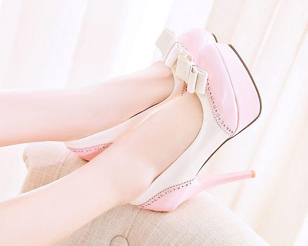 "molangg: "" Bow Platform Shoes from HHOTARU | discount code: kristie10  """