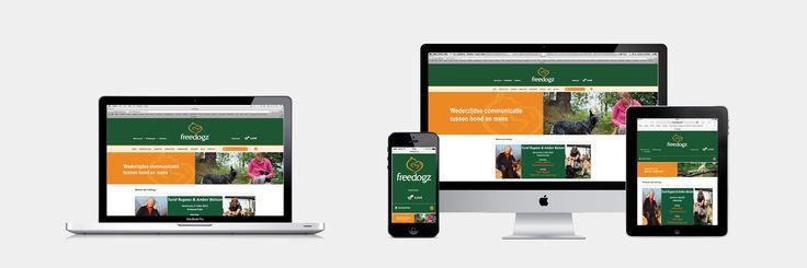 Freedogz - Website realisatie - Communicatie en reclamebureau 2design Roeselare - Grafisch ontwerp, webdesign en apps - Webshop
