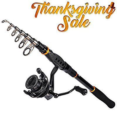 [Thanksgiving Sale]KastKing Combo Spinning Reel - Spinning Travel Fishing Rod Combo 10+1 BB Fishing Reel - Carbon Fiber Drag Spare Graphite Spool