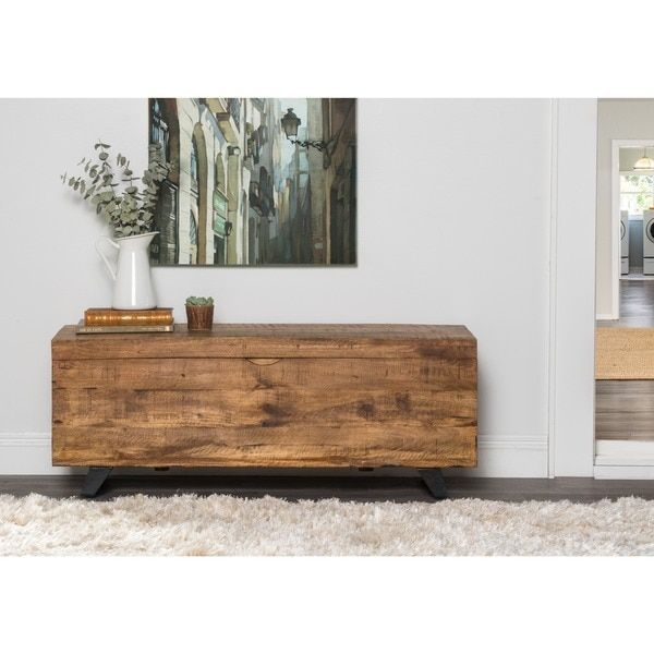 Kosas Home Axis Mid-century Style Storage Chest | Overstock.com Shopping - The Best Deals on Benches