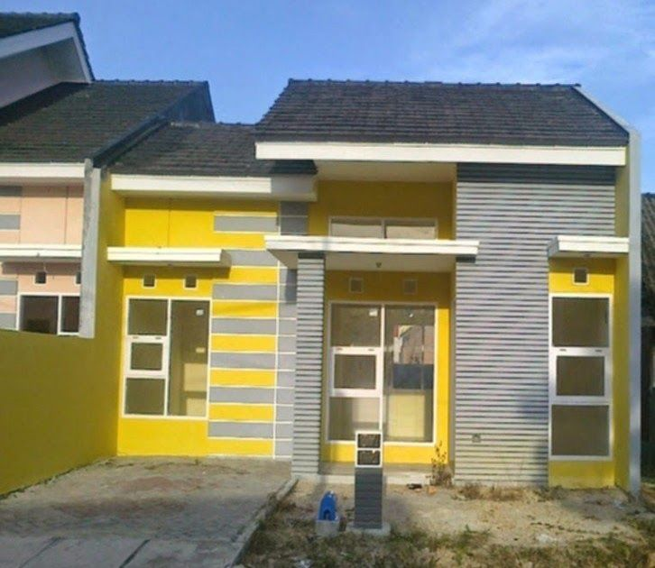 Cat Rumah Minimalis Warna Kuning Gading - Denah Rumah