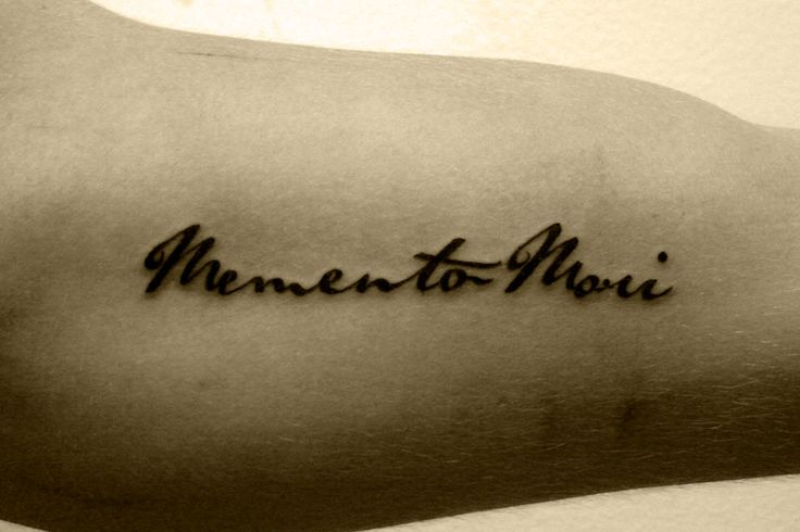 """""""Memento Mori"""" tattoo """"Remember Your Mortality"""", remember to live life to the fullest because like all good things it ends."""
