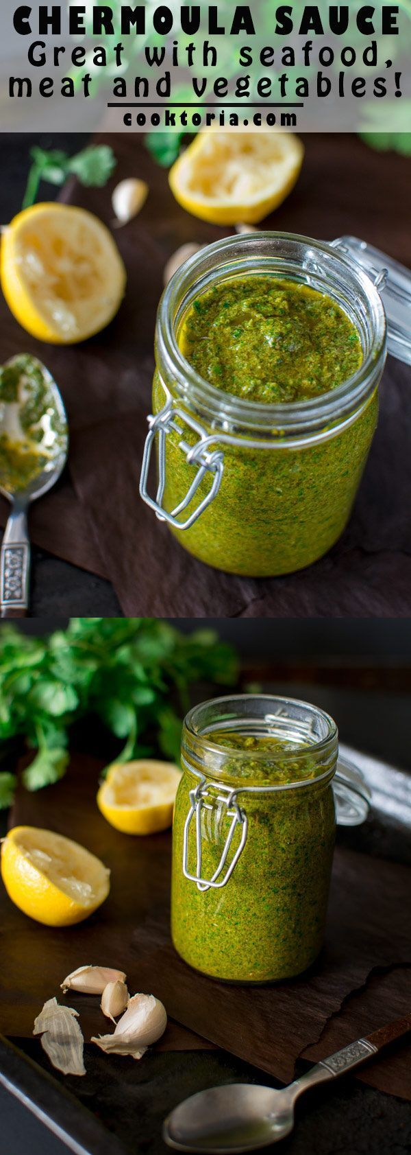 This oh-so-flavorful and tangy Moroccan Chermoula Sauce will serve as a healthy addition to your seafood, chicken and vegetable dishes. :heart: http://COOKTORIA.COM
