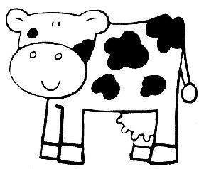 kleurplaat koe kinderboerderij boerderijdieren