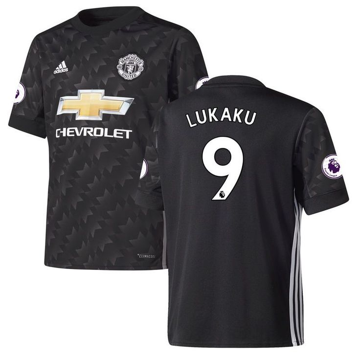 1e1673f2c ... Romelu Lukaku Manchester United adidas Youth 201718 Away Replica Patch  Jersey - Black 16 17 Belgium European cup Soccer jersey 2016 ...