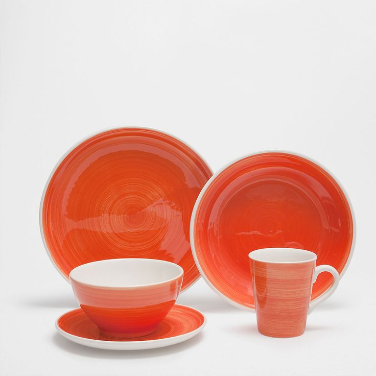 Our Favorite Colorful Items From Zara Home's Summer Sale- swirly orange tableware