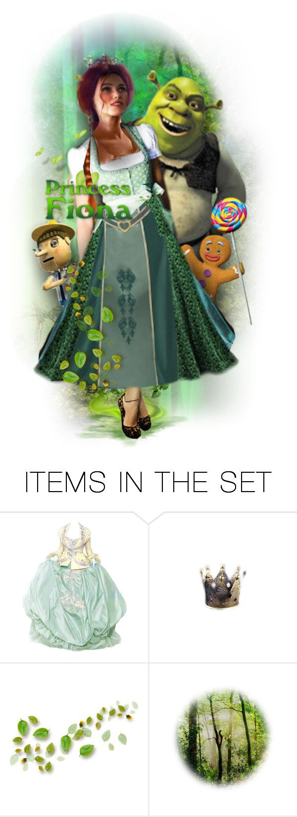 """""""Princess Fiona"""" by rosie305 ❤ liked on Polyvore featuring art and artdoll"""