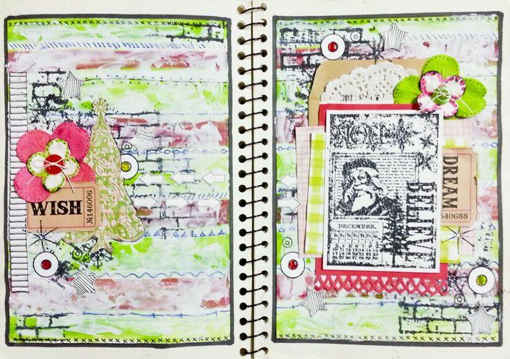 #artjournal #mixedmedia #art #journalbook #christmas