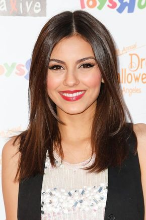 Victoria Justice - beautiful shade of brown hair - best chocolate brown - brunette