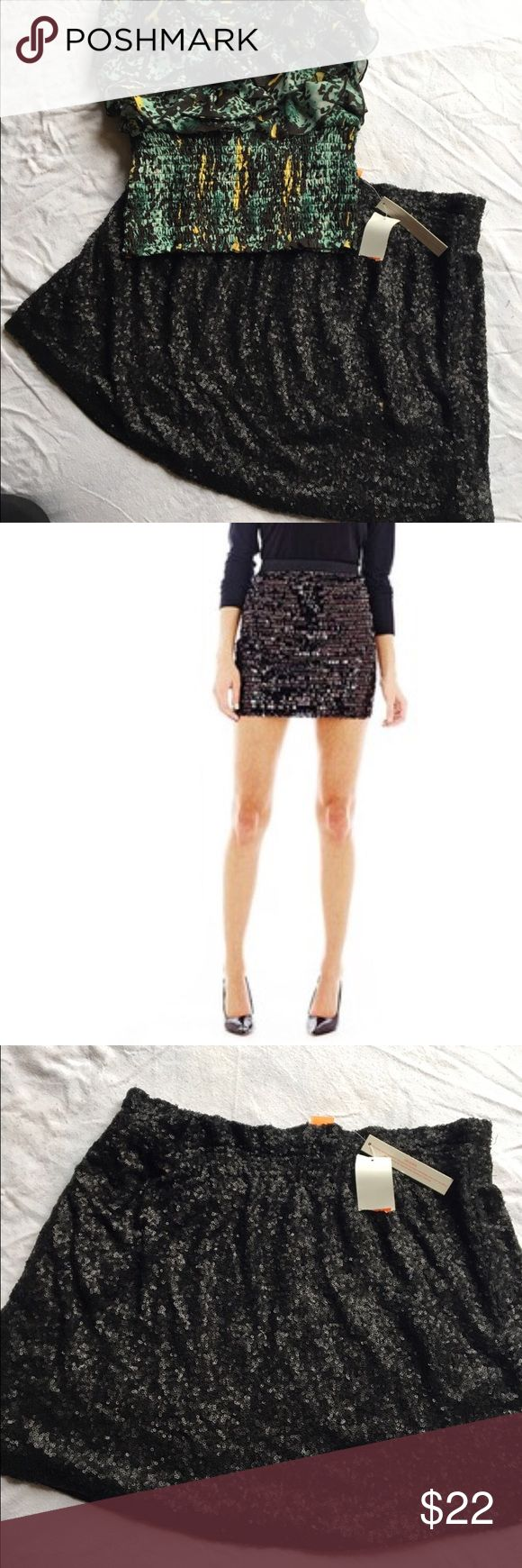BNWT Joe Fresh Sequin Mini Skirt Girls night out here you come! Beautiful and sassy Sequin mini skirt. Stretch waistband. BNWT but does have a tear in the interior lining (not noticeable and doesn't affect wear at all) Joe Fresh Skirts Mini