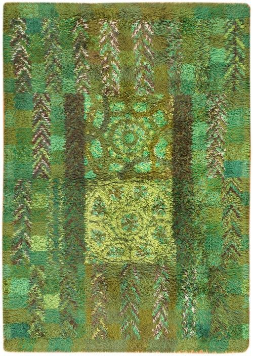 Vintage Swedish Rya Rug By Marianne Richter Ovralid 46853 - By Nazmiyal