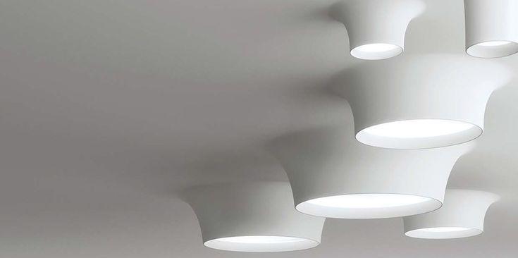 Model 8935   9010 Novantadieci   Gips/Plaster Inbouw verlichtingselement / Recessed Lights  Meer informatie / More info : www.indesign.nl