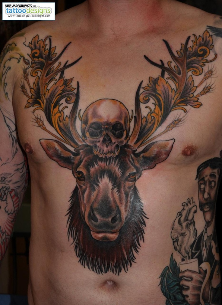 27 best images about moose tattoos on pinterest deer skull tattoos track and vegas tattoo. Black Bedroom Furniture Sets. Home Design Ideas