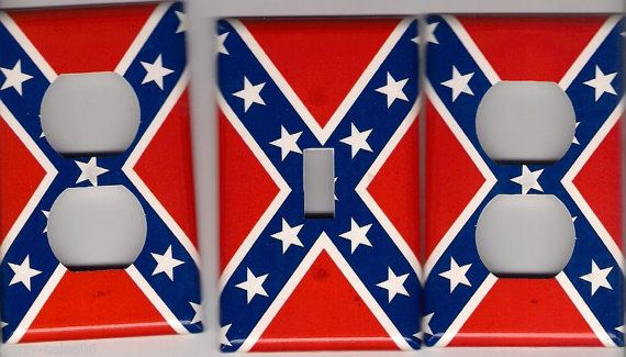 Hey, I found this really awesome Etsy listing at http://www.etsy.com/listing/164627615/rebel-flag-1-light-switch-and-2-outlet