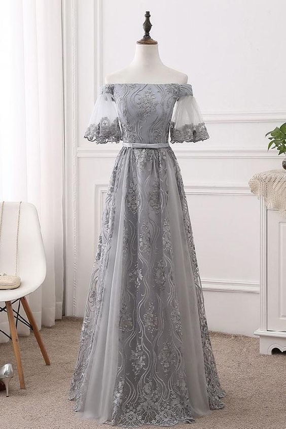 Long prom dress, prom dress lace, bridesmaid dresses