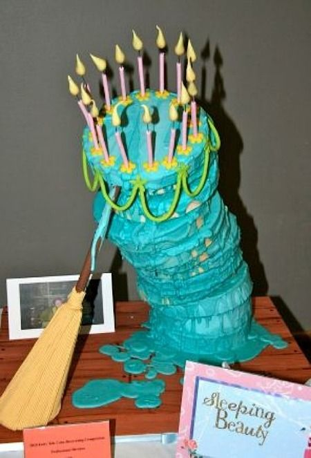 The leaning cake from Sleeping Beauty!