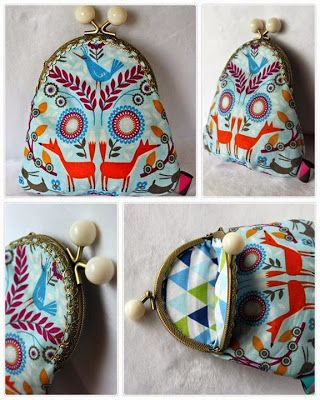 Cute handmade purse :) #handmade #purse #fox #diy