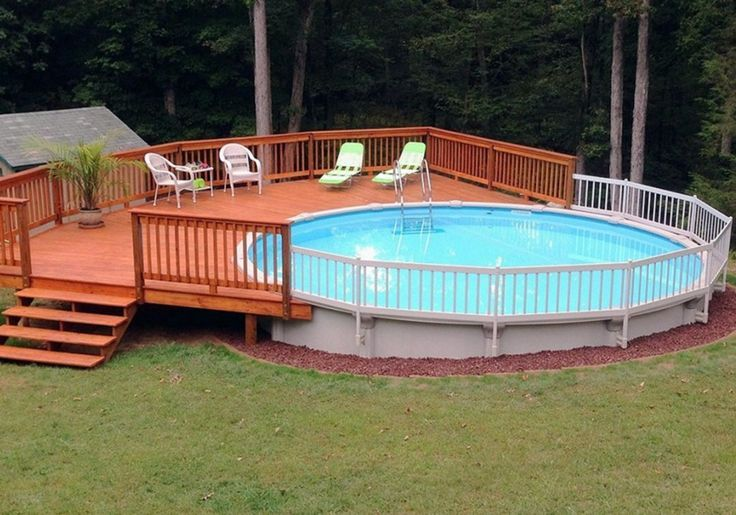 25 Amazing Wooden Deck Pool Ideas For More Comfortably And Safely In 2020 Decks Around Pools Backyard Pool Landscaping Decks Backyard