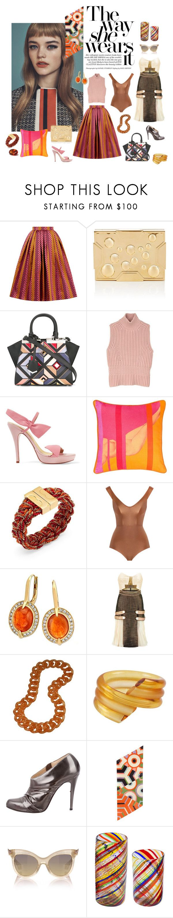"""""""The way she wears it"""" by sarahhughes-net on Polyvore featuring House of Holland, Lee Savage, Fendi, Diesel Black Gold, RED Valentino, BIVAIN, Tory Burch, Zimmermann, self-portrait and Judith Hendler"""