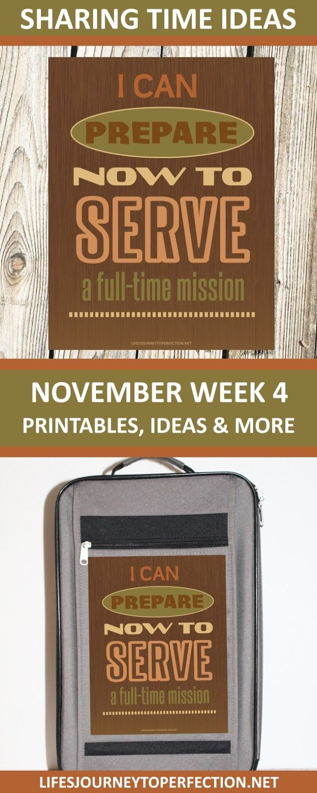 2017 Sharing Time Ideas for November Week 4: I can prepare now to serve a full-time mission.